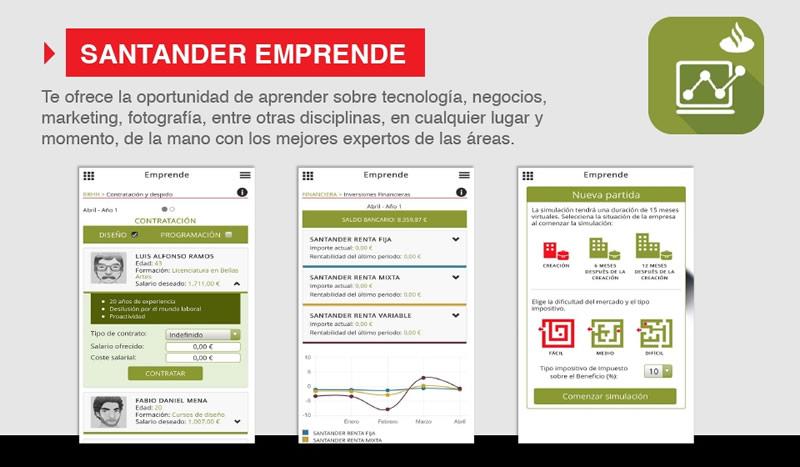 Santander Universidades lanza sus apps Formación y Emprende - Santander-Emprende-app
