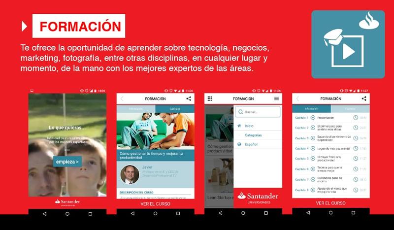 Santander Universidades lanza sus apps Formación y Emprende - Santander-Formacion-App
