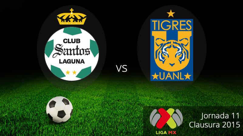 Santos vs Tigres, Fecha 11 del Clausura 2015 - Santos-vs-Tigres-Clausura-2015