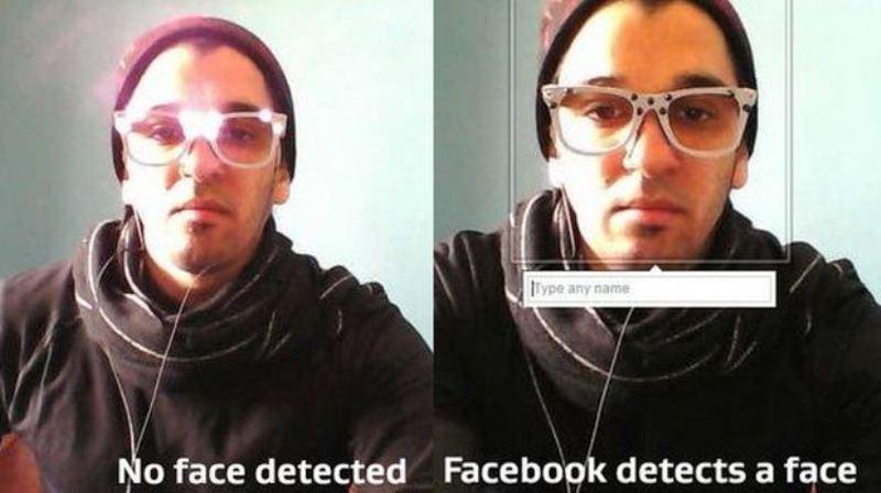 Lentes que evitan el reconocimiento facial, para que no te etiqueten en fotos. - gafas