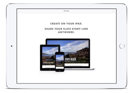 Slate, la app de adobe para crear presentaciones en el iPad