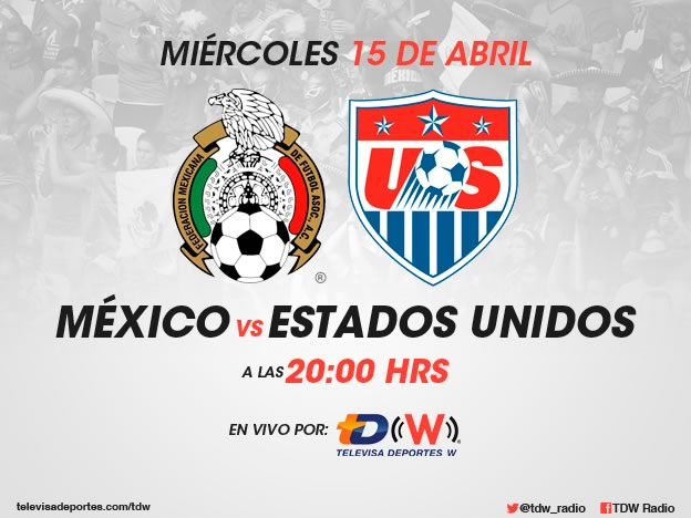 México vs Estados Unidos, Amistoso 2015 - Mexico-vs-Estados-Unidos-2015-en-vivo-por-radio