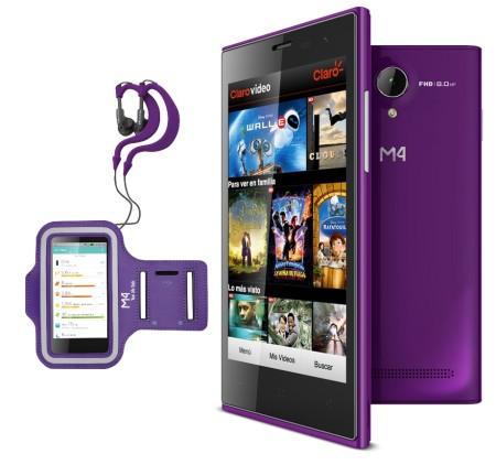 La mexicana M4, lanza su smartphone M4 Style SS4045 - SS4045-Edition-Fitness-450x422