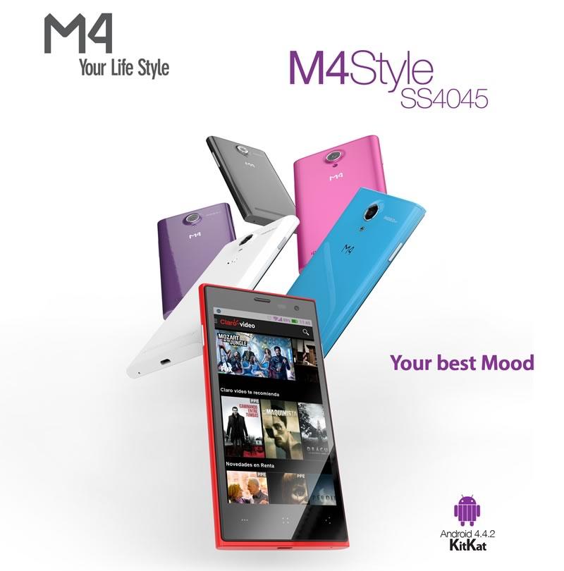 La mexicana M4, lanza su smartphone M4 Style SS4045 - Smartphones-M4-SS4045-lanzamiento