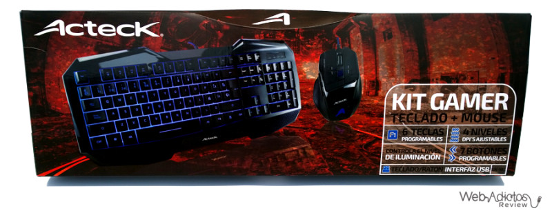 empaque kit gamer teclado mouse acteck 800x309 Kit Gamer: Teclado + Mouse de Acteck
