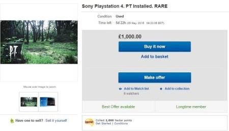 Consolas PS4 con P.T. Demo instalado se subastan por más de $1,500 dólares en eBay