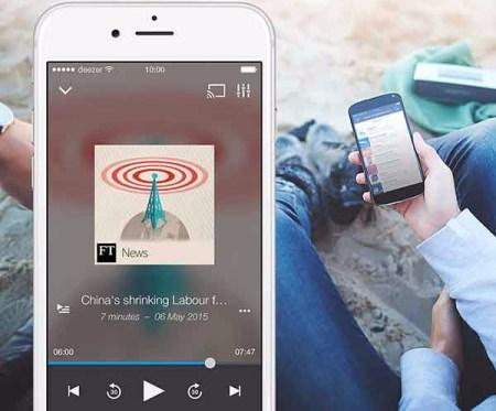 Deezer presenta su servicio de podcasts