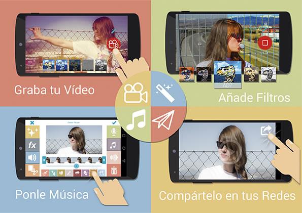 Videona, un nuevo editor de videos para tu celular - Editar-videos-celular-Videona