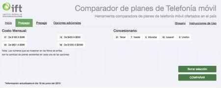 """Compara planes de telefonía móvil con el """"Comparador de planes"""" de IFETEL"""