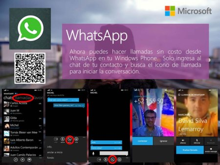 Llamadas de WhatsApp en Windows Phone ya disponibles