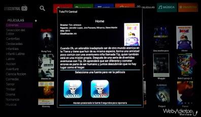 TotoTV Stick 120, Centro de entretenimiento para tu TV - TOTO-TV-CENTRAL-PELICULAS
