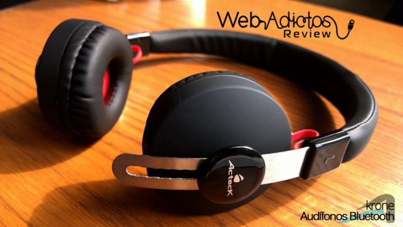 Audífonos Bluetooth Krone, inalámbricos y multifuncionales - acteck-audifonos-krone-11