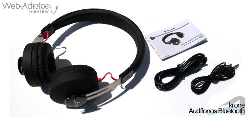 Audífonos Bluetooth Krone, inalámbricos y multifuncionales - acteck-audifonos-krone-14-contenido-de-la-caja