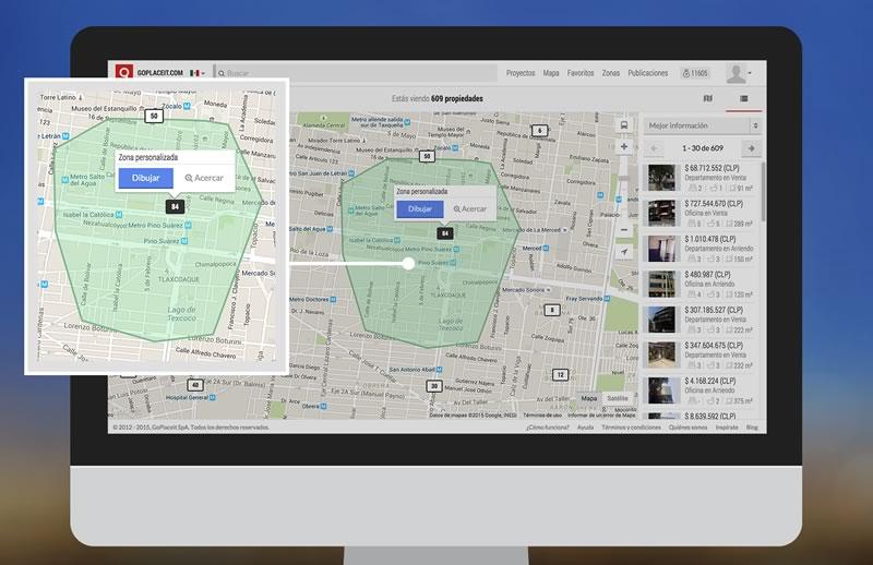 GoPlaceIt.com, la plataforma de bienes raíces lanza su versión 4.0 - Propiedades-en-linea-GoPlaceIt