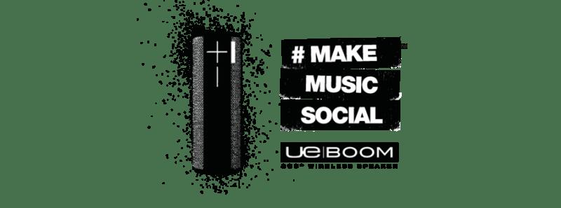 Bocinas Ultimate Ears de Logitech llegan a México - UEBOOM-MAKE-MUSIC-SOCIAL-800x297