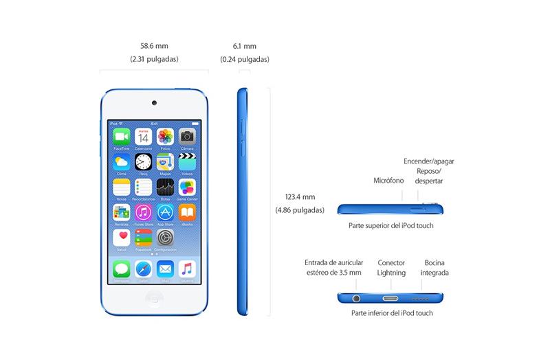 Apple presenta nuevo iPod touch ¡Conócelo! - nuevos-iPod-Touch-medidas