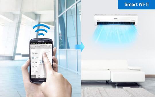 Samsung, lanza nueva línea de aires acondicionados Triangle Design - samsung-smart-wi-fi-aire-acondicionado