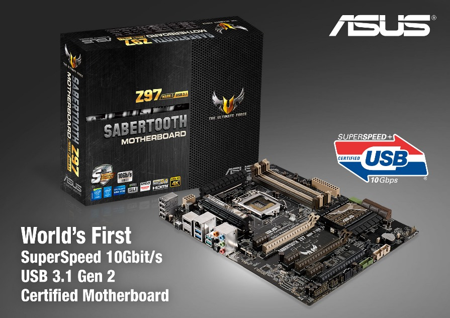 ASUS anuncia la primera tarjeta madre con certificación USB 3.1 Gen 2 - ASUS-TUF-Sabertooth-Z97