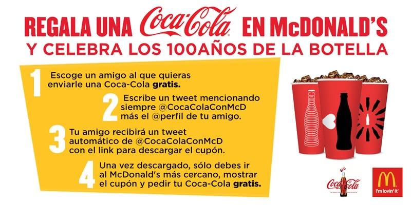 Obtén una Coca Cola gratis en McDonald's por mandar un tweet - Coca-Cola-gratis-en-McDonalds-Tweet-a-Coke