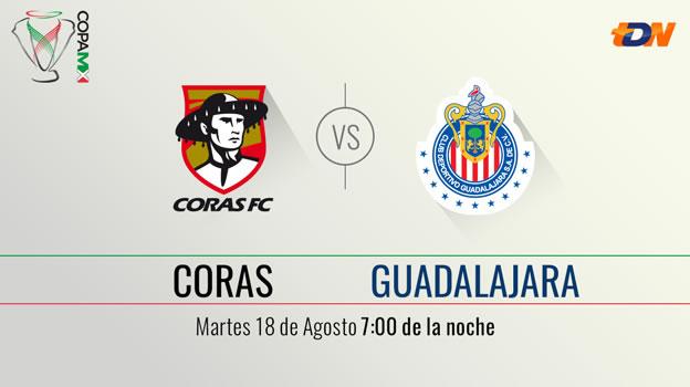 Coras vs Chivas, Copa MX Apertura 2015   Llave 2 ida - Coras-vs-Chivas-en-vivo-Televisa-Deportes-Copa-MX