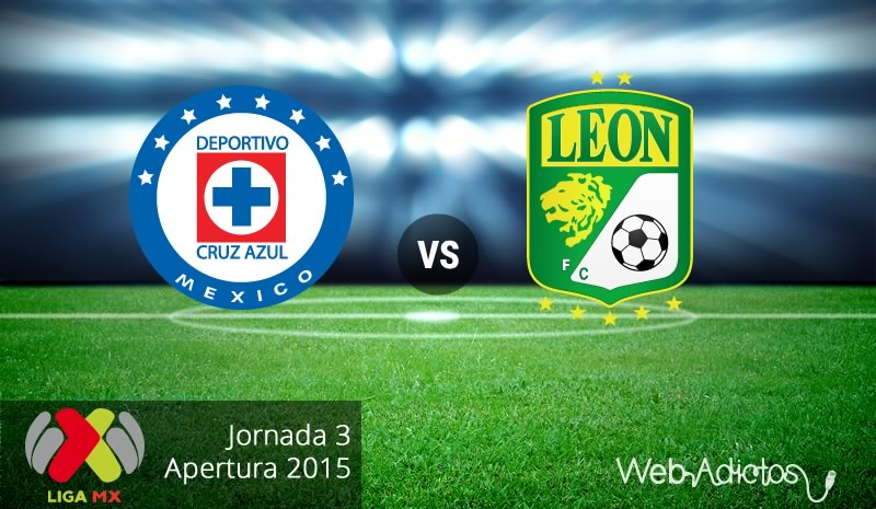 Cruz Azul vs León, Fecha 3 del Apertura 2015 - Cruz-Azul-vs-Leon-Apertura-2015