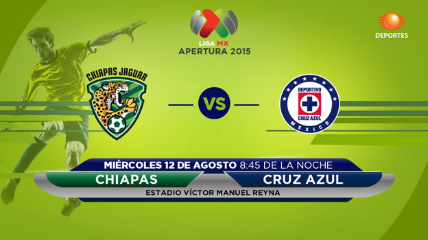 Chiapas vs Cruz Azul, Jornada 4 del Apertura 2015 - Jaguares-de-Chiapas-vs-Cruz-Azul-en-vivo-Televisa-Deportes-Apertura-2015