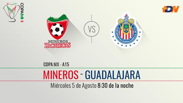 Mineros vs Chivas en la Copa MX Apertura 2015 [Vuelta] - Mineros-vs-Chivas-en-vivo-Copa-MX-Apertura-2015