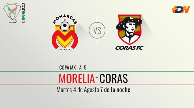 Morelia vs Coras, Copa MX Apertura 2015 [Vuelta] - Monarcas-Morelia-vs-Coras-en-vivo-por-Televisa-Deportes-Copa-MX-Apertura-2015