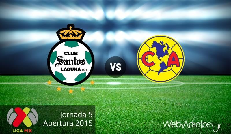 Santos vs América, Jornada 5 del Apertura 2015 - Santos-vs-America-Apertura-2015