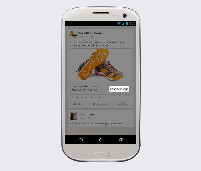 Facebook, introduce nuevos cambios ¡Conócelos! - facebook-click-Enviar-mensaje