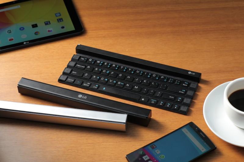 LG lanza al mercado un teclado enrollable portátil - lg-rolly-keyboard-800x533