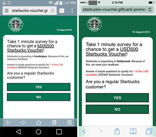 Se propaga en WhatsApp supuesto mensaje de Starbucks que intenta robar tu información - phishing-Starbucks-WhatsApp