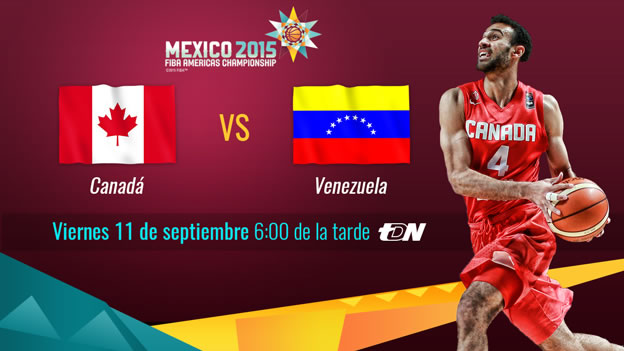 Canadá vs Venezuela, Semifinal FIBA Américas 2015 ¡En vivo por internet! - Canada-vs-Venezuela-en-vivo-FIBA-Americas-2015