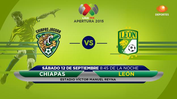 Jaguares vs León, Jornada 8 del Apertura 2015 - Jaguares-de-Chiapas-vs-Leon-en-vivo-Televisa-Apertura-2015
