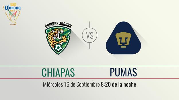 Jaguares vs Pumas, Copa MX Apertura 2015 | Llave 3 Ida - Jaguares-vs-Pumas-en-vivo-Televisa-Deportes-Copa-MX-Apertura-2015