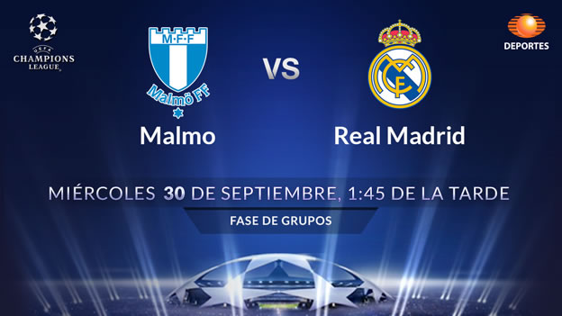 Malmo vs Real Madrid, Champions League 2015 - Malmo-vs-Real-Madrid-en-vivo-por-Televisa-Deportes