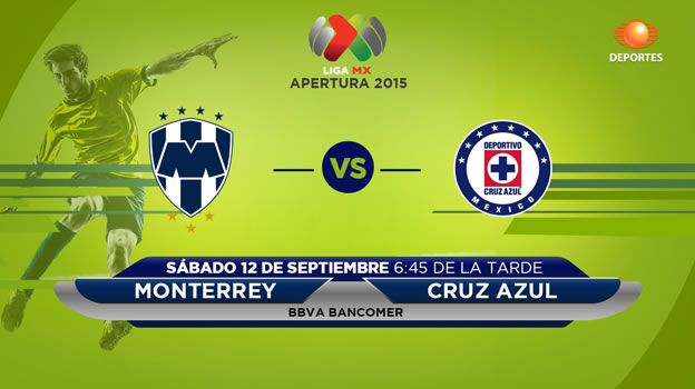Monterrey vs Cruz Azul en el Apertura 2015 | Jornada 8 - Monterrey-vs-Cuz-Azul-en-vivo-Televisa-Deportes-Apertura-2015