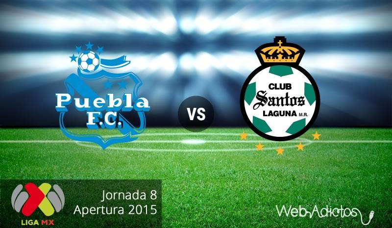 Puebla vs Santos, Fecha 8 del Apertura 2015 - Puebla-vs-Santos-Apertura-2015