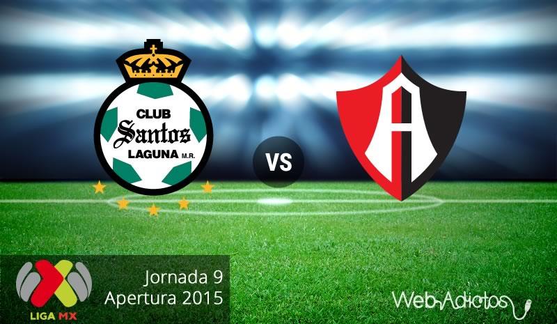 Santos vs Atlas, Fecha 9 del Apertura 2015 - Santos-vs-Atlas-Apertura-2015