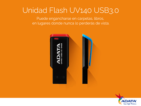 ADATA lanza USB 3.0 Flash Drive con clip - UV140-USB-Flash-Drive-ADATA