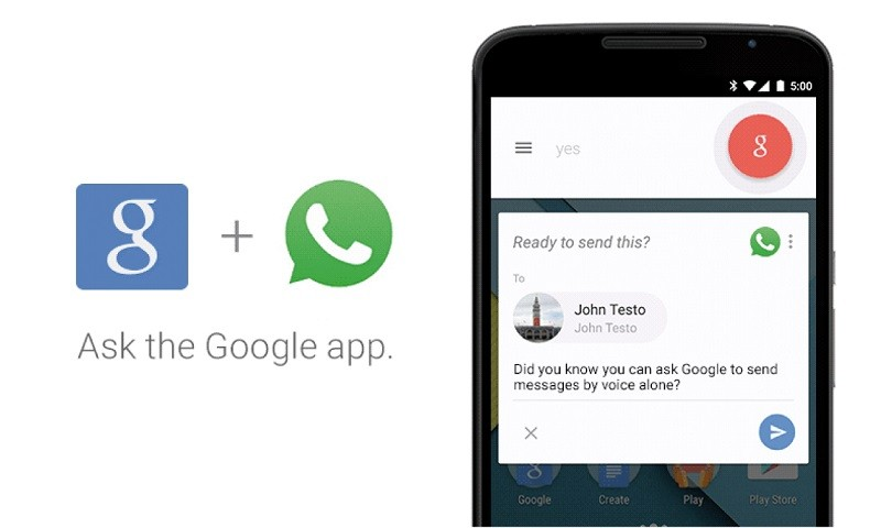 Google Now ya permite contestar mensajes de WhatsApp en español - google-now-whatsapp-800x480
