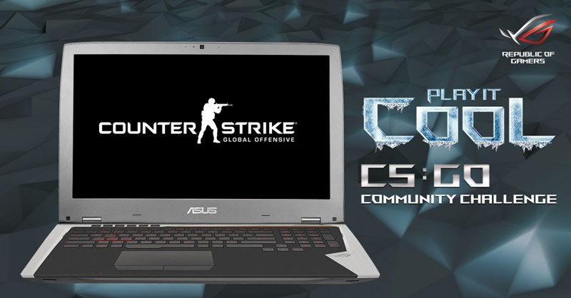 ASUS ROG lanza el reto Play It Cool a la Comunidad Counter Strike: Global Offensive - asus-play-it-cool-counter-strike