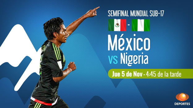 mexico vs nigeria en vivo semifinal mundial sub 17 2015 México vs Nigeria, Semifinal del Mundial Sub 17 Chile 2015