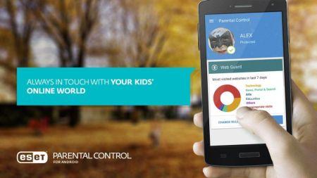 ESET Parental control ayuda a proteger a tus hijos mientras usan un dispositivo móvil
