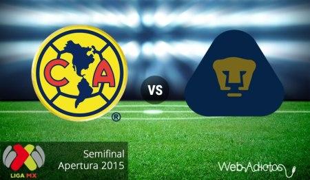 América vs Pumas, Semifinal del Apertura 2015 | Partido de ida