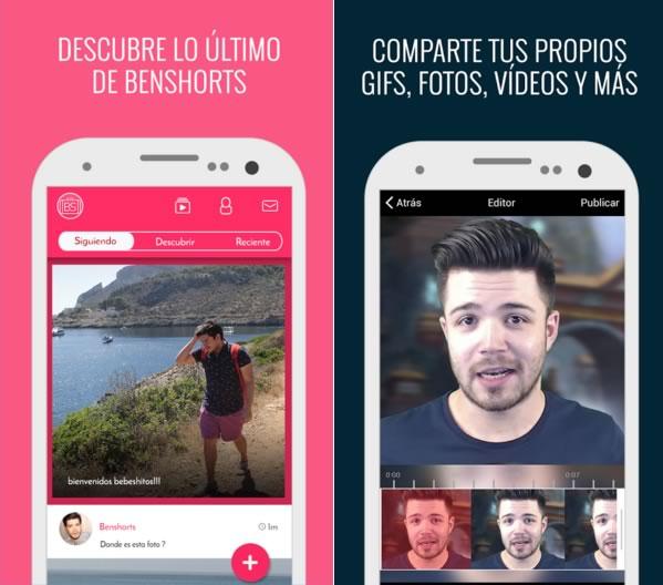 Lanzan primeras apps oficiales de youtubers en España y México - app-benshorts