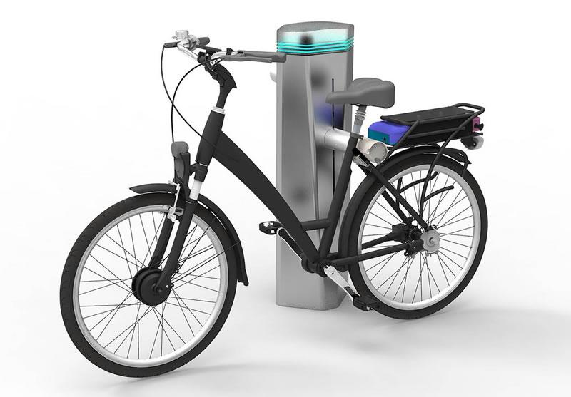 Mexicano en Francia diseña estación de bicicletas eléctricas que se recargan de forma inalámbrica - estacion-de-bicicletas-electricas-francia