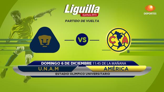 Pumas vs América, Semifinal del Apertura 2015   Partido de vuelta - pumas-vs-america-en-vivo-semifinal-apertura-2015