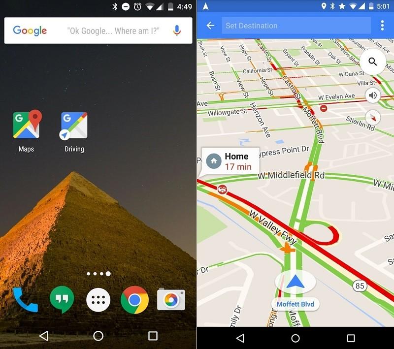 Google Maps predecirá destinos en nueva actualización para Android - driving-mode-google-maps-800x709