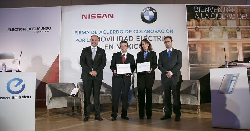 BMW y Nissan se unen para impulsar la movilidad eléctrica en México - nissan-y-bmw-autos-electricos